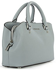 Michael Kors Blue Saffiano Satchel Bag