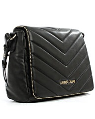 Armani Jeans Quilted Black Cross-Body