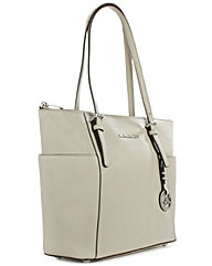 Michael Kors Grey Leather Tote Bag