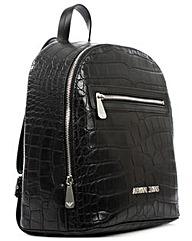 Armani Jeans Black Eco Leather Backpack