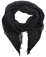 Armani Jeans Logo Black Fabric Scarf