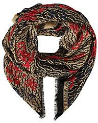 Armani Jeans Logo Black Wool Scarf