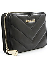 Armani Jeans Quilted Black Wallet