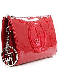Armani Jeans Red Patent Cross-Body Bag