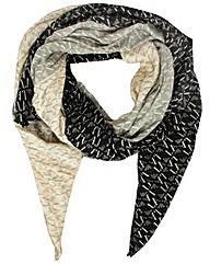 Armani Jeans Logo Black Scarf