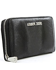 Armani Jeans Black Zip Around Wallet