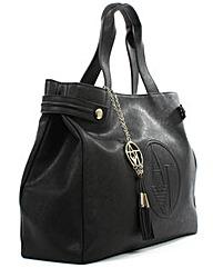Armani Jeans Black Tassel Tote Bag