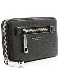 Marc Jacobs Black Leather Zip  Wallet