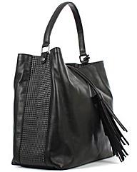 Daniel Black Leather Shoulder Bag