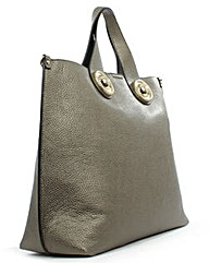 Versus Versace Pewter Shoulder Bag