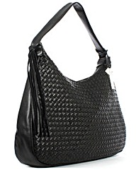 Daniel Black Leather Slouchy Bag