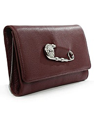 Versus Versace Burgundy Clutch Bag