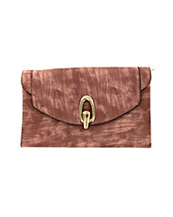 Large oval clasp clutch