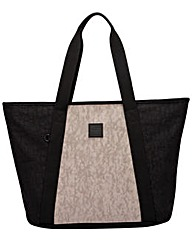 Artsac Twin Strap Panelled Tote Bag