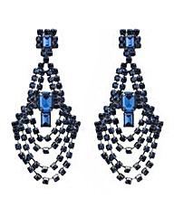 Mood Blue loop chandelier earring