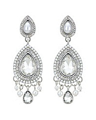 Mood Pearl teardrop chandelier earring