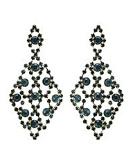 Mood Green crystal chandelier earring