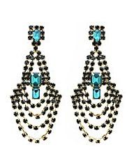 Mood Green loop chandelier earring