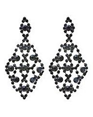 Mood crystal diamante chandelier earring