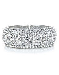 Mood Silver crystal bar bangle