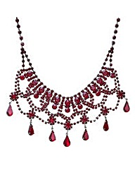Mood Red diamante choker necklace