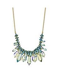 Mood Green crystal shard beaded necklace