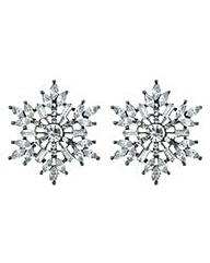 Mood Silver snowflake stud earring