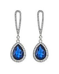 Mood Metallic blue teardrop drop earring