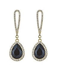 Mood Jet crystal pave droplet earring