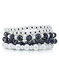 Mood Monochrome pearl beaded bracelet