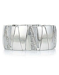 Mood Silver crystal inlay bracelet