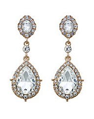 Mood Rose gold crystal drop earring