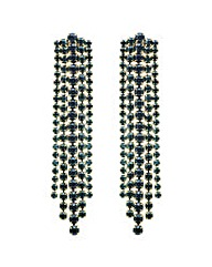 Mood Green crystal stand drop earring
