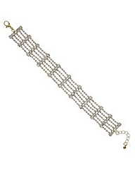 Mood Gold crystal diamante bracelet