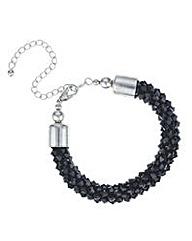 Mood Jet cluster beaded bracelet