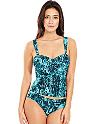 Deep Sea Underwired Twist Tankini Top