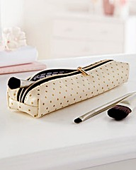 Gold Polka Dot Makeup Brush bag