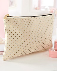 Gold Polka Dot Wash Bag