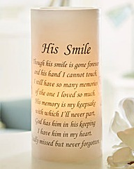 His Smile Flicker Candle