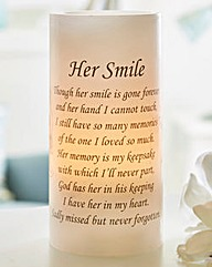 Her Smile Flicker Candle