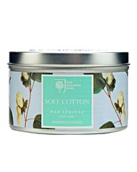 RHS Soft Cotton Tin Candle