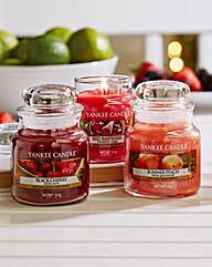 Yankee Set of 3 Fruit Small Jars