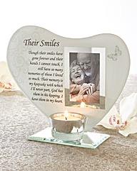 Their Smiles Glass Tea Light Holder