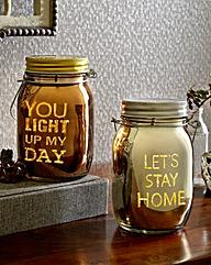 LED Sentiment Jars Twin Pack