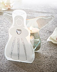 Glass Angel Tealight Holder