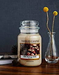Yankee Candle Ebony & Oak Large Jar
