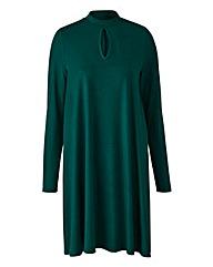 Pine Green Jersey Swing Dress