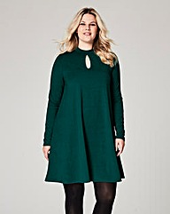 Pine Green Jersey Swing Dress
