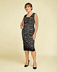 Lorraine Kelly Corded Lace Dress