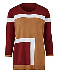 Nutmeg Colour Block Jumper